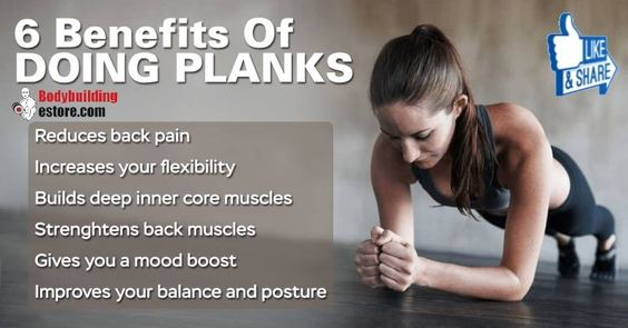 planks and benefits of on pinterest