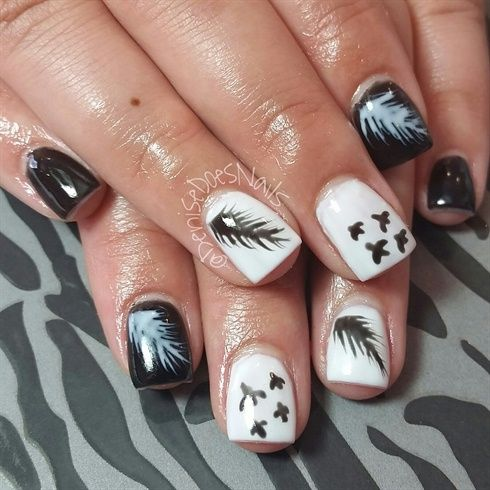feathers Nail Art  #nailart #nails #cutenails #bestnails