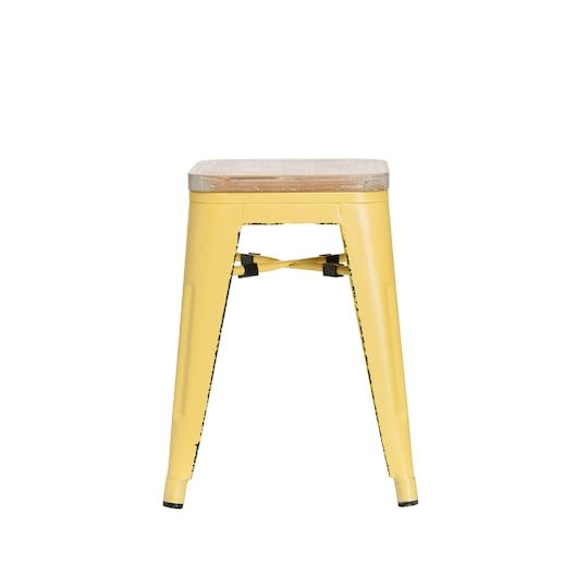 Fabulous Find The Yellow Metal Wood Stool By Ashland At Michaels Frankydiablos Diy Chair Ideas Frankydiabloscom