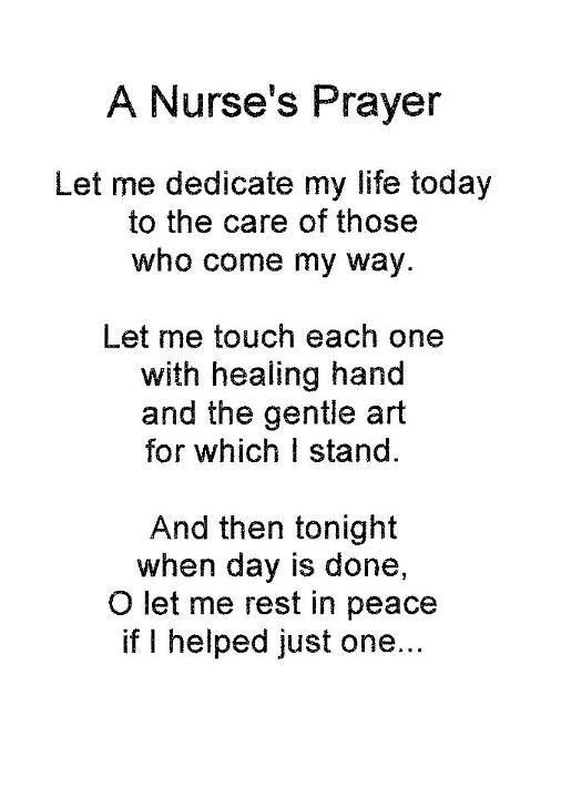 Nurse's prayer