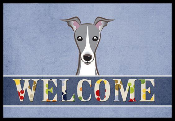 Italian Greyhound Welcome Indoor or Outdoor Mat 24x36 BB1422JMAT
