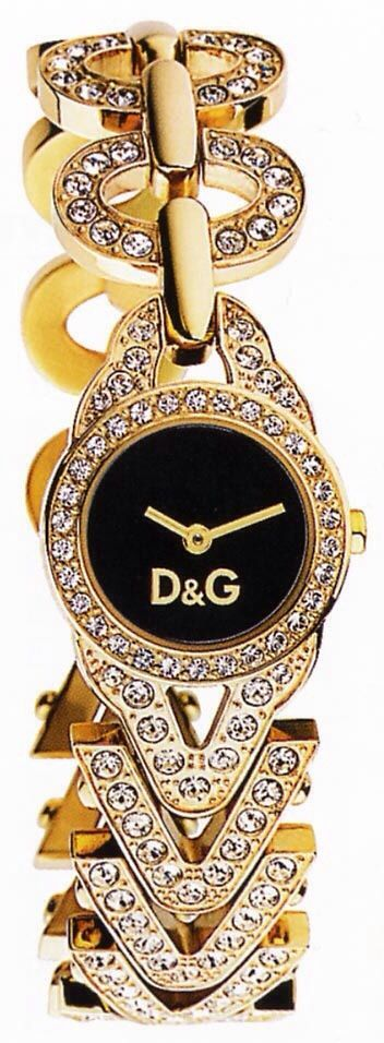 D&G Gold and Diamond Watch