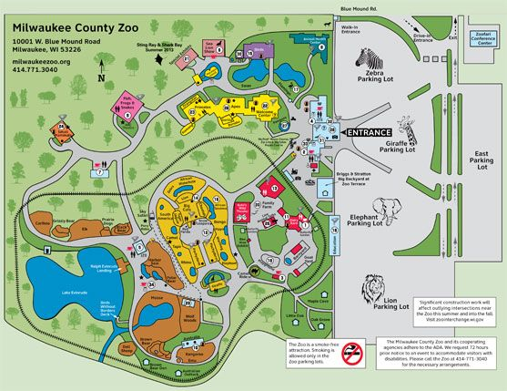 Zoo Map Milwaukee County Zoo Wisconsin Home 3 Pinterest