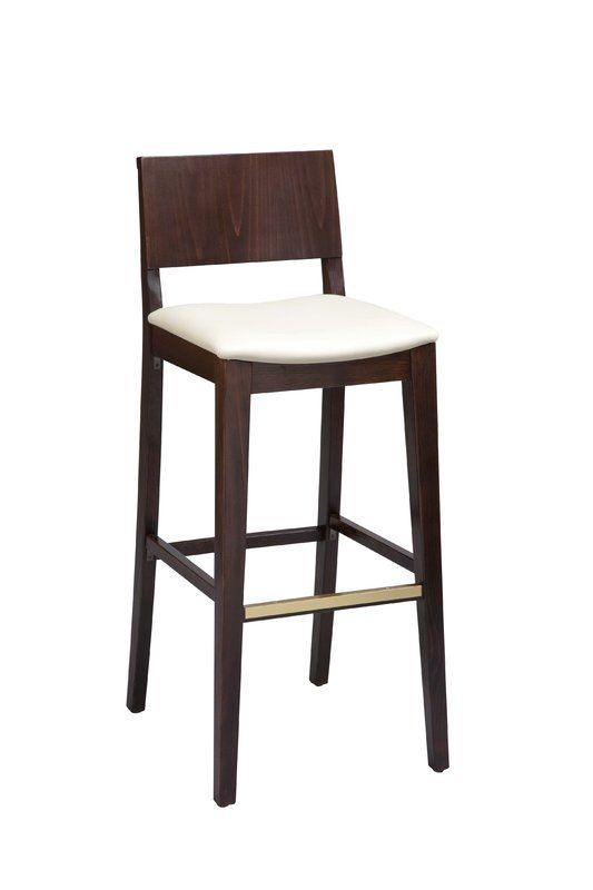 Beechwood Solid Back Upholstered Seat Bar Counter Stool In 2020