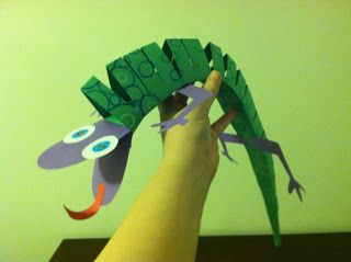 Art With Ms M: 3D Construction Paper Lizards!