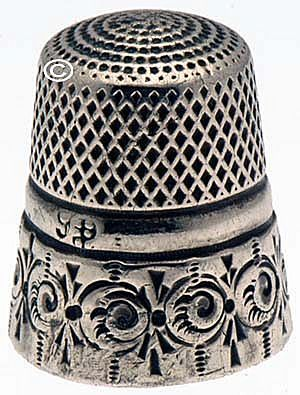 Antique Sterling Silver Stern Bros. Thimble *C.1890's