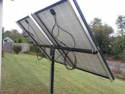 Universal Solar Panel Pole Mount Kit Holds 2 Large Panels Or 4 125 Watt Pan Ebay In 2020 Solar Panels Best Solar Panels Solar Panel Installation