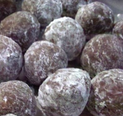 Rum Balls....this is pretty much the same recipe I make ...