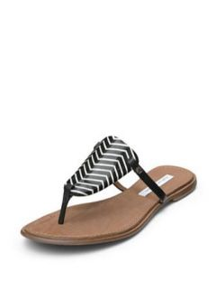 DVF Kimberly Leather Thong Sandal