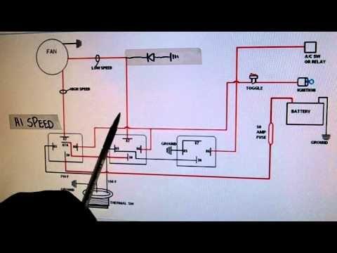 2 Speed Electric Cooling Fan Wiring Diagram Youtube Electric Cooling Fan Electric Radiator Fan Radiator Fan
