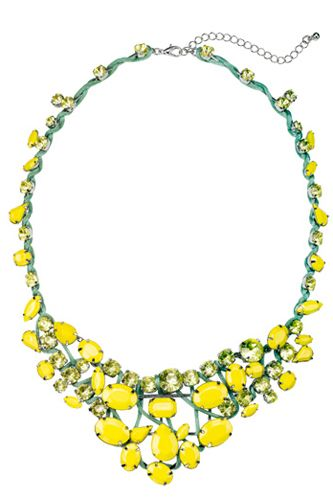 $38 at Macy's in NYC in April for this neon yellow necklace.