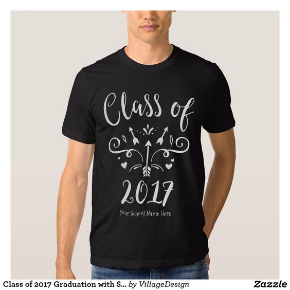 Class of 2017 Graduation with School Name T-Shirt