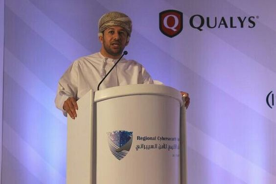 Director general of oman national CERT delivers opening remarks at the Regional Cybersecurity  Summit. www.regionalcybersecuritysummit.com