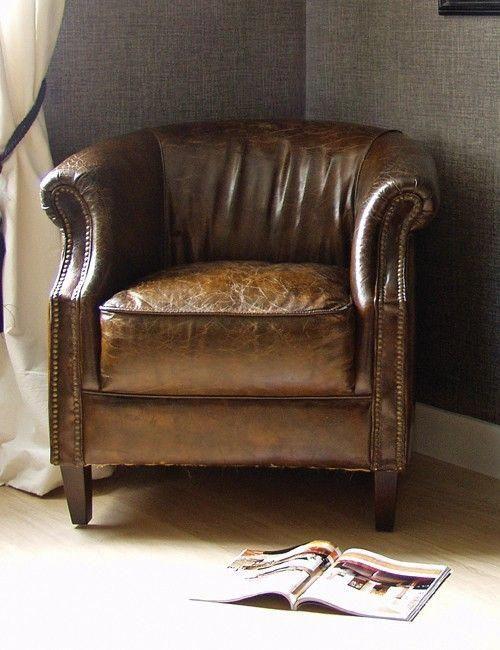 Vintage Leather Club Chair Smallcozychair Vintage Leather Chairs Club Chairs Vintage Leather Sofa