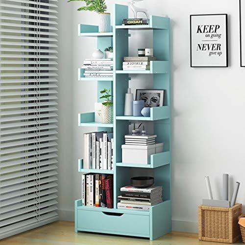 Dljfu Bookshelves 10 Cube Storage Bookcase Wooden Bookshelf And Display Shelf Freestanding Cabinet Unit For Office Home Bookcase Storage Bookcase Shelves