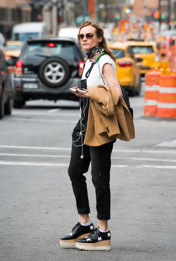 Olivia Palermo might have found the new it-shoe in the platform brogue shoe by Stella McCartney.