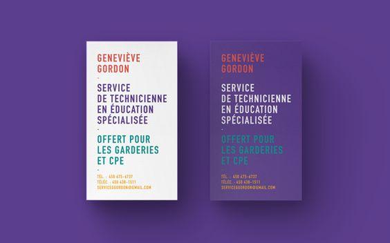 Geneviève Gordon : Identité visuelle on Behance