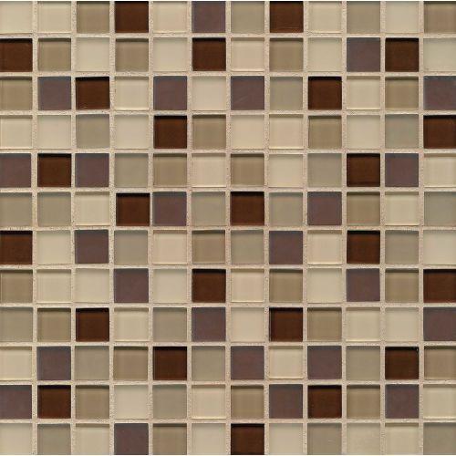 Loft 1 X 1 Wall Mosaic In Annex Decorative Glass Tile Mosaic Glass Mosaic Tiles