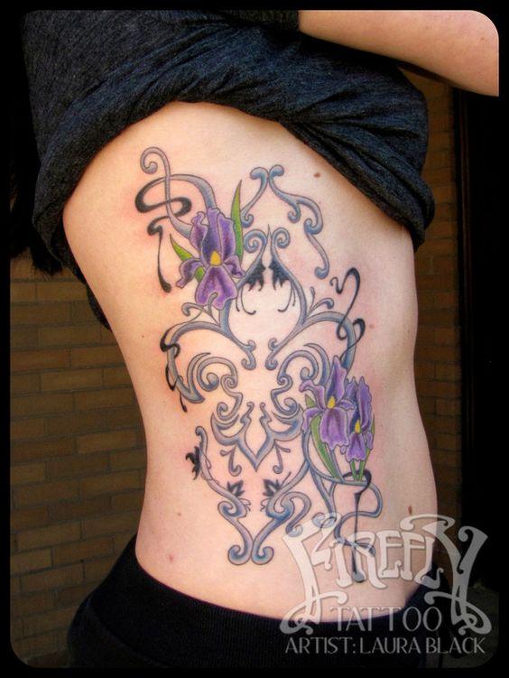 Laura Black Firefly Tattoo: Art Nouveau Fleur De Lis Tattoo