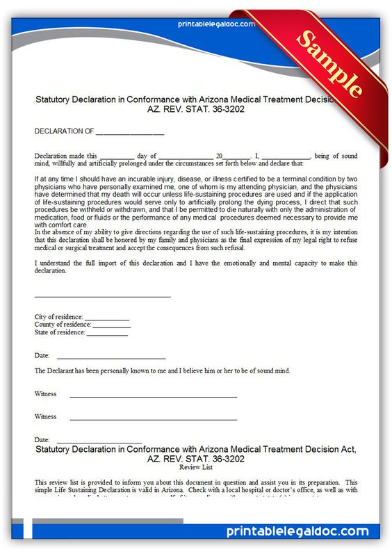 Free Printable Life Sustaining Statute, Arizona Legal Forms Free - inventory list for landlords
