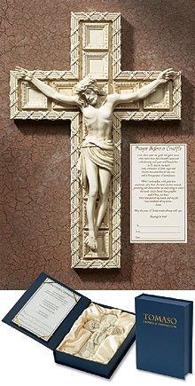 Jesus Crucifixion Gift Wall Cross Tomaso Cross in Box with Certificate