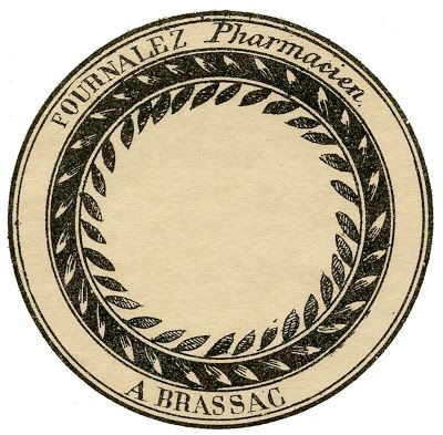 Vintage French Round Labels – Pharmacy Apothecary Labels. All different kinds of labels here.