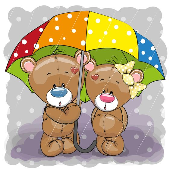 Romantic cartoon bears vector design 04