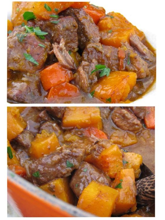 Beef and butternut squash stew #beef #Butternut_squash #Stew #Blood_orange #Grass_Fed