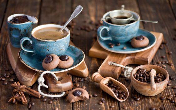 HD Coffee Cookies Cups Wallpaper
