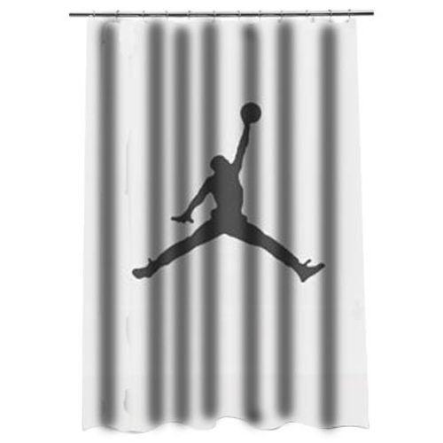 Basketball Air Jordan Jumpman Shower Curtain At Personalized