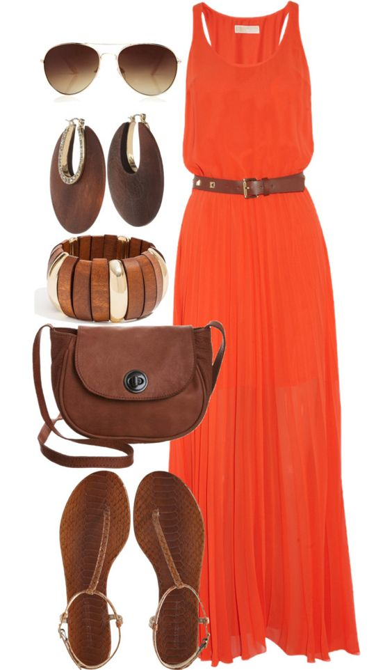 I would love a maxi dress that is NOT strapless plus the jewelry is perfect for summer