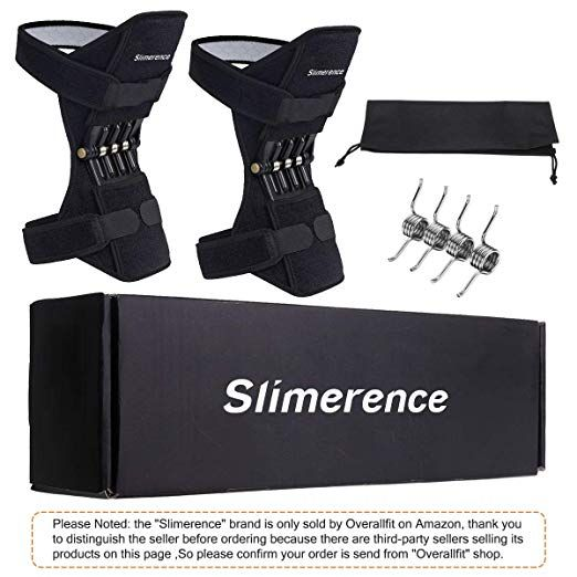 Slimerence Knee Protection Booster Power Lift Support Knee Pads Knee Brace Powerful Rebound Spring Force Support For Sports Hikin Knee Pads Soreness Knee Brace