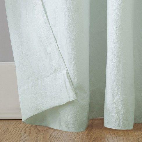 52 X63 Washed Cotton Twist Tab Curtain Seafoam Archaeo Tab Curtains Cotton Curtains Curtains