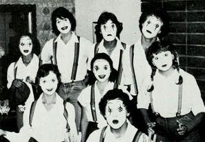 The 1981 Mime Troop in the yearbook at University High School in Irvine, California.  #UniversityHighSchool #Irvine #yearbook #1981