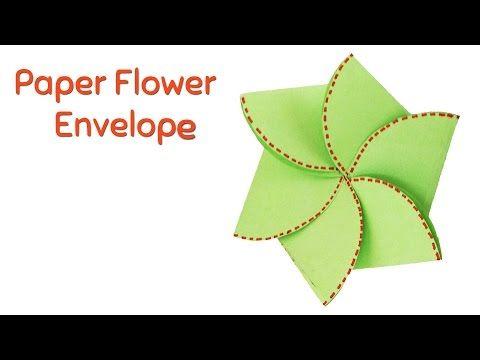 39 How To Make Paper Flower Envelope Closed Flower Envelop Varni Crafts Youtube Handmade Envelopes Handmade Birthday Cards Cards Handmade