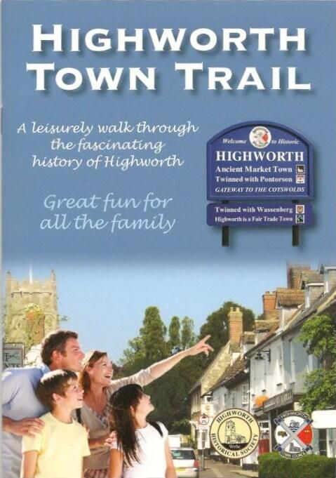 Highworth Town trail book available from the Lighthouse book shop on the high street in Highworth.