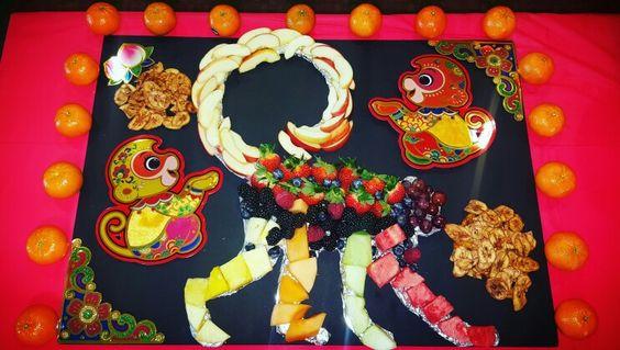 Lunar New Year Monkey fruit platter #ChineseNewYear
