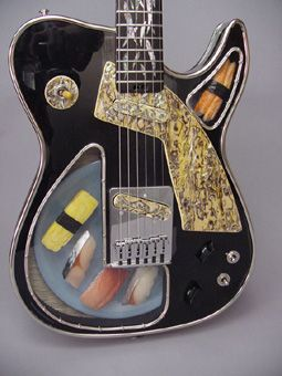 This guitar its aptly named Sushi girl