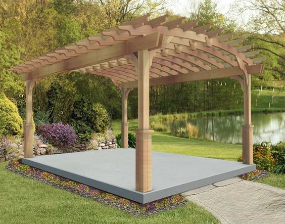 Red Cedar Free Standing Arched Pergolas Casey 39 S Dancing