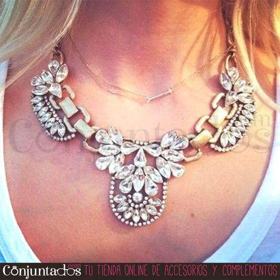Si buscas un original collar, y totalmente polivalente, lo has encontrado: Alice destaca cualquier prenda de forma increíble.  ★ 15'95 € en http://goo.gl/th6wvS ★  #novedades #collares #necklaces #conjuntados #conjuntada #joyitas #lowcost #jewelry #bisutería #bijoux #accesorios #complementos #moda #fashion #fashionadicct #picoftheday #outfit #estilo #style #GustosParaTodas #ParaTodosLosGustos