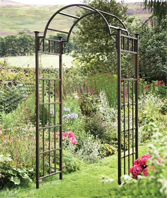 Continental Iron Garden Arches Patio Door Garden Decoration Silk Flower Arch Njaoeoz Garden Arch Trellis Garden Archway Garden Arches