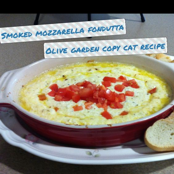 Olive Gardens Smoked Mozzarella Fondutta, mmm... Found ...