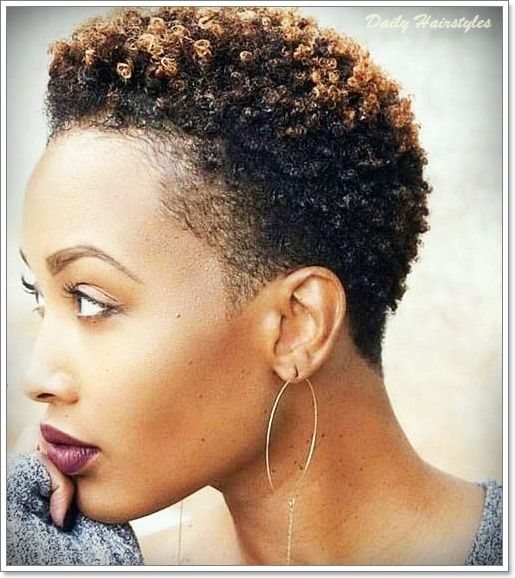 Natural Short Hairstyles For Black Women With Brown Color Natural Hair Styles Short Natural Hair Styles Short Black Natural Hairstyles