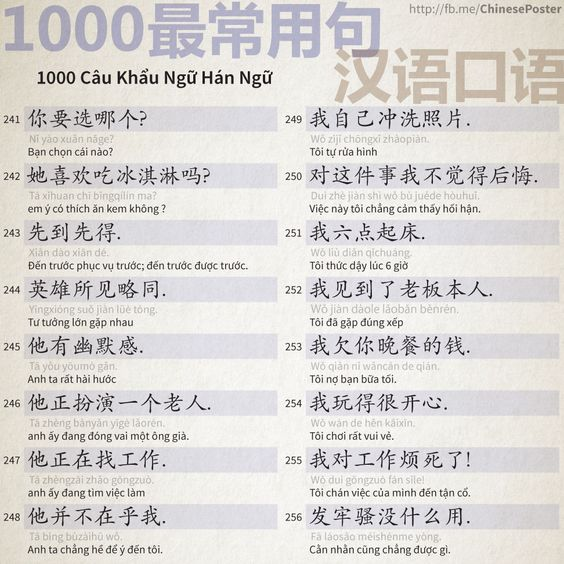 1000 Câu Khẩu Ngữ - Phần 16: