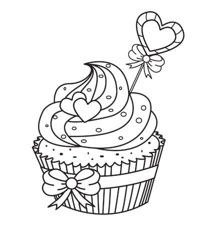 Cupcake Malvorlage Cupcake Coloring Pages Coloring Pages Scrapbook Images