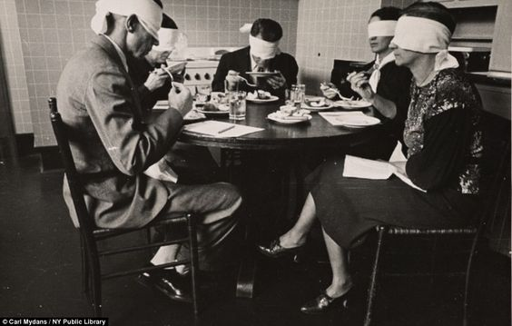 Department of Agriculture officials testing meats at Beltsville, Maryland, in 1935  Carl Mydans