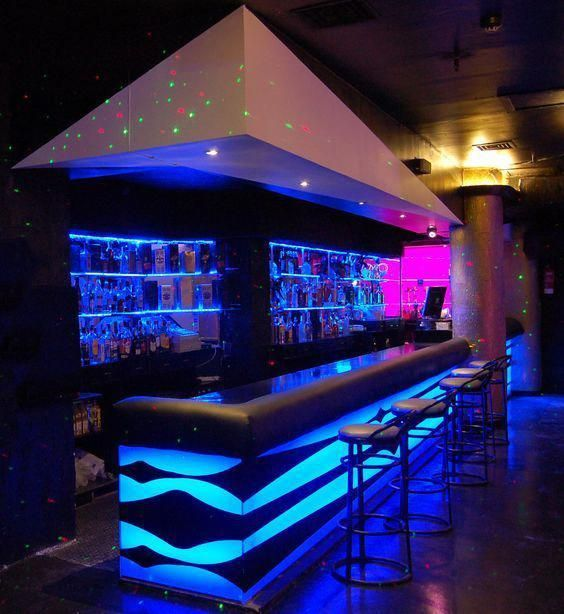 Here Are 9 Amazing Lighting Ideas To Accentuate Your Space Without Having To Spend A Pretty Penny Livin Home Bar Designs Bar Counter Design Nightclub Design