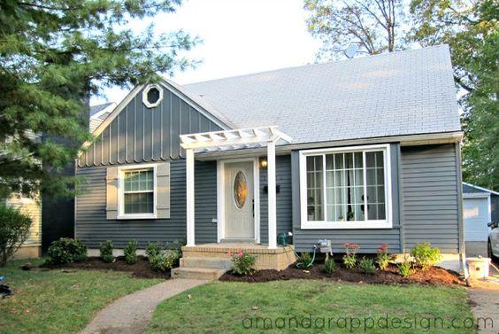 Best ideas about pergola exterior pergola pergola and for Slate blue front door