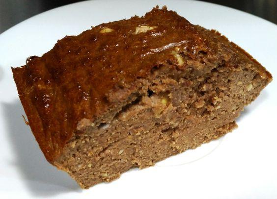 Brownie de platano con nueces