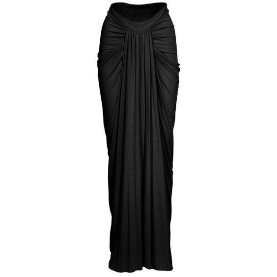 Rick owens, Black maxi skirts and Maxi skirts on Pinterest